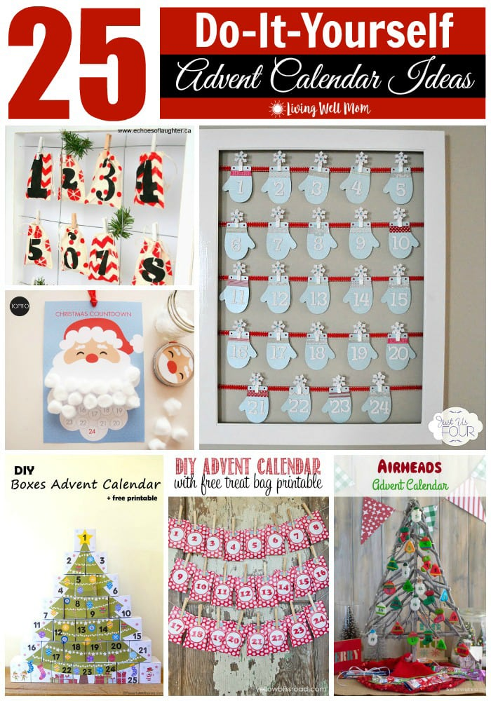 From adorable numbered mittens to stenciled treat bags, a Santa calendar with a cotton ball beard and even a countdown-to-Christmas DIY Lego advent calendar, here's 25 inexpensive DIY Advent calendar ideas your whole family will love!