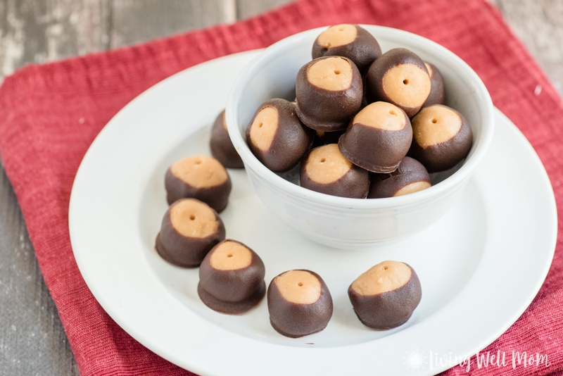 The Best Paleo Buckeyes - a healthier take on the favorite chocolate covered peanut butter ball, this Paleo recipe is grain-free, gluten-free, dairy-free, refined-sugar-free, and so delicious, they'll disappear just as quickly as the original version.