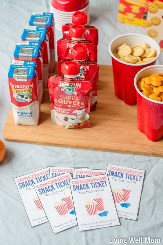 """Make your family movie night amazing (no extra work!) with three simple tips. Plus download our free printable """"concession stand"""" tickets that kids will love! You'll save a lot of money compared to going out to the theater and still have a blast!"""