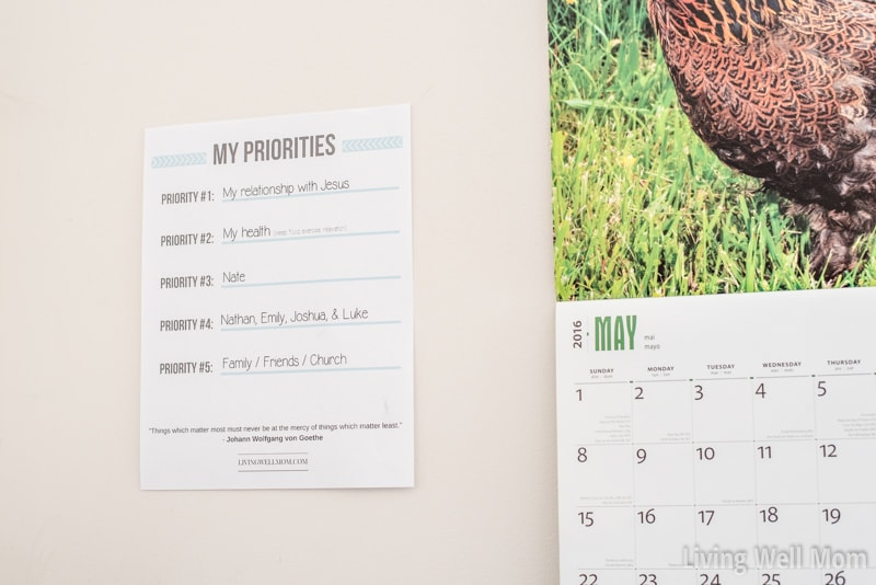 """The simple solution to reducing stress and doing what really matters....Download this free printable """"Priorities"""" list now!"""