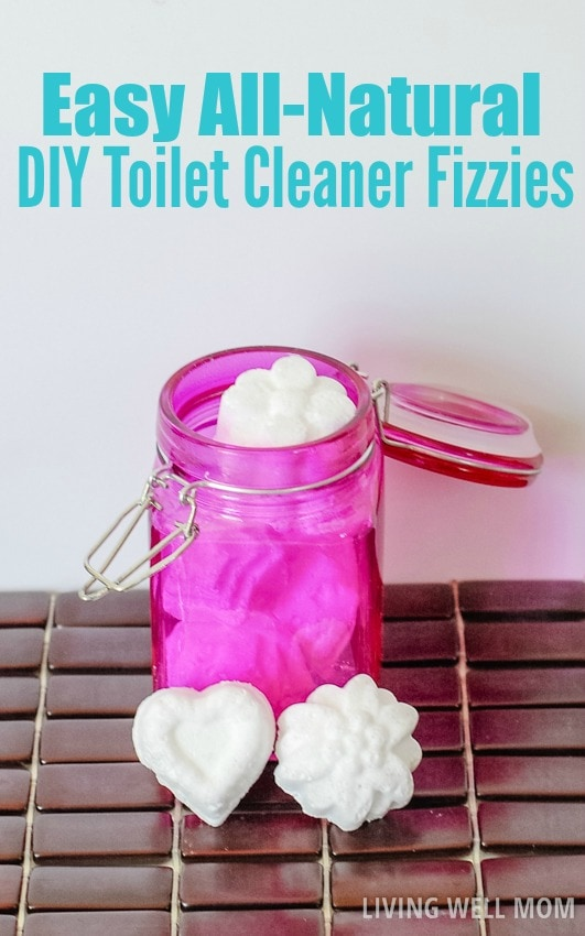 These DIY Toilet Bowl Fizzies are easy to make and all-natural with essential oils! You'll love using safer, no-chemical ingredients around your family and how well the fizzing actions works. (Who would have though cleaning the toilet could be almost fun?!) Check out the easy step-by-step instructions here...