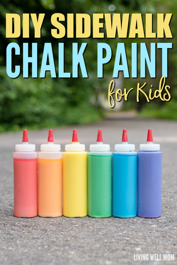 Need a new idea to keep your kids busy OUTSIDE? This DIY Sidewalk Chalk Paint will keep them occupied for hours as they make fun creations that later dry into chalk! The best part is it's super easy and inexpensive to make! Get the how-to for this awesome kids' activity here: