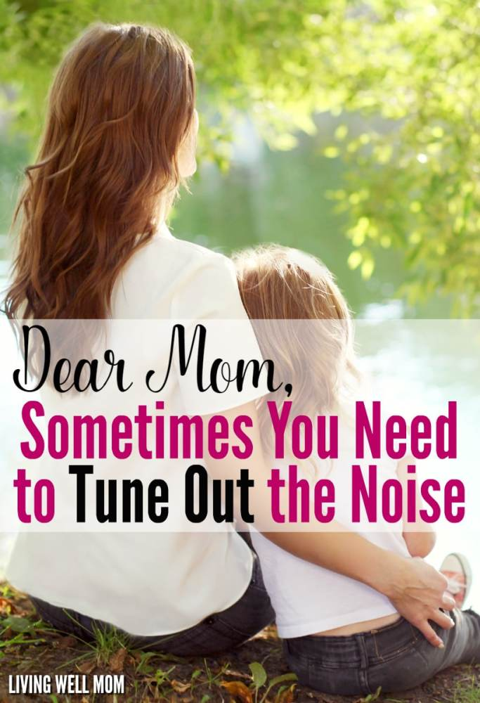 Do you ever get tired of unwanted opinions and judgmental attitudes, moms? You might not be able to prevent it from happening, but here's something you CAN do that will help save your sanity and happiness!f