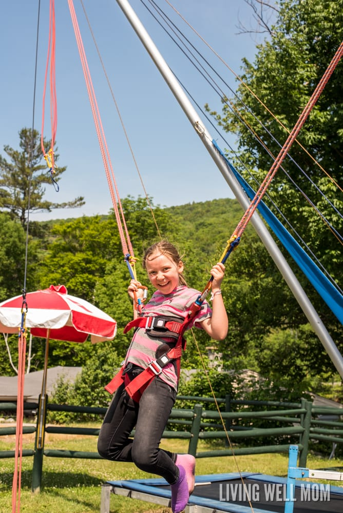 Loon Mountain in Lincoln, New Hampshire has everything you need for unforgettable family memories. From a gentle gondola ride 3000 feet to the summit with glacial caves and beautiful scenery to an adventure park with a climbing wall, bungee trampoline, zipline, and more, there's even an Aerial Forest Adventure Park with rope courses for the brave! Find out our family's experience here: