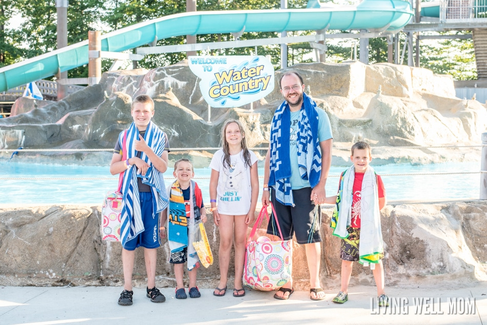 family at Water Country