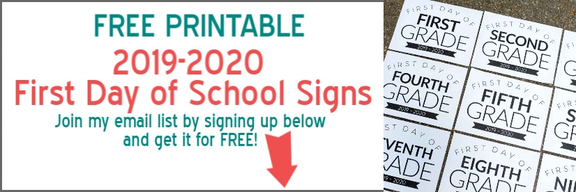 photo regarding First Day of 5th Grade Printable named Free of charge Printable To start with Working day of Higher education Symptoms for All Grades