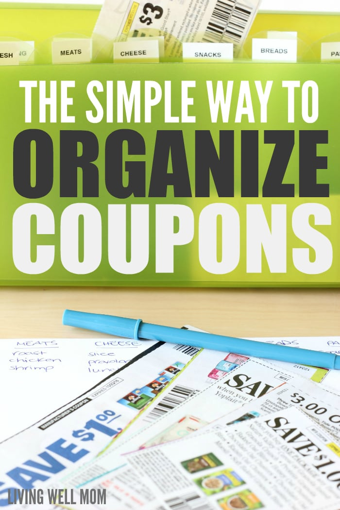 The Simple Way to Organize Coupons - you don't need a complicated system to save money with coupons. Find out how to do it quickly and easily here, plus a new time-saving tip that will make a huge difference!