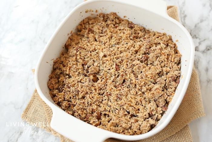 baked grain free paleo apple crisp