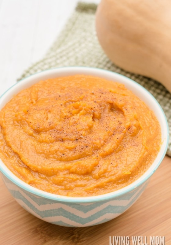 This Whipped Butternut Squash Puree is melt-in-your mouth delicious. With simple spices, this family-favorite recipe is a dairy-free, sugar-free twist on the classic favorite and the result is a crowd-pleasing Paleo side dish for any fall meal.