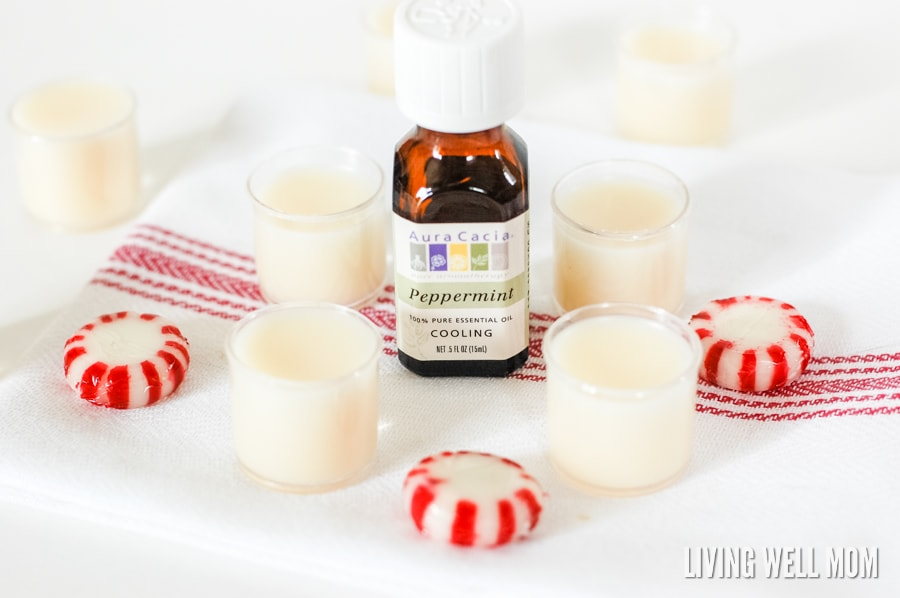 Using just three all-natural ingredients (including essential oils), this DIY Peppermint Lip Balm only takes about 10 minutes to make! Make it for yourself or as a perfect homemade gift!