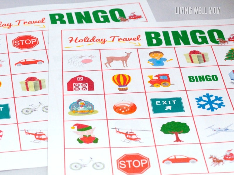 graphic relating to Holiday Bingo Printable named Printable Bingo Activity: Family vacation Push