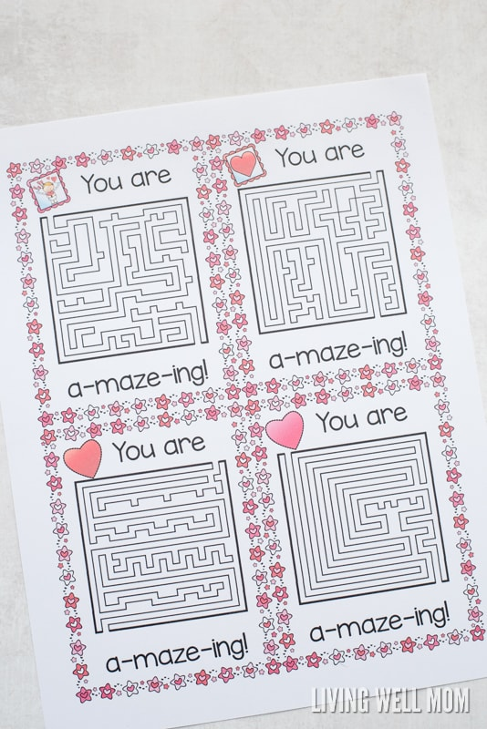 download your free printable you re a maze ing valentine here
