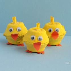Kids will love making these delightfully fun and super-adorable egg carton chicks for spring! Such a fun craft to display for Easter or any spring day!