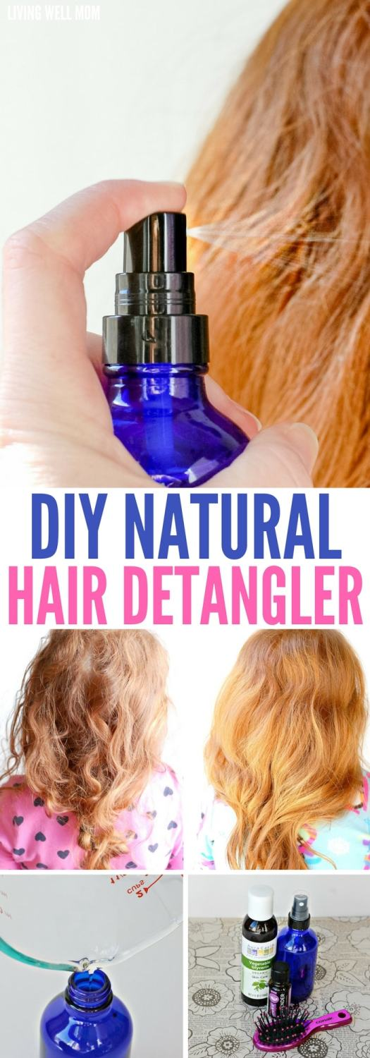Brush through your child's tangled, matted hair quickly and far less painfully with this easy DIY natural hair detangler!