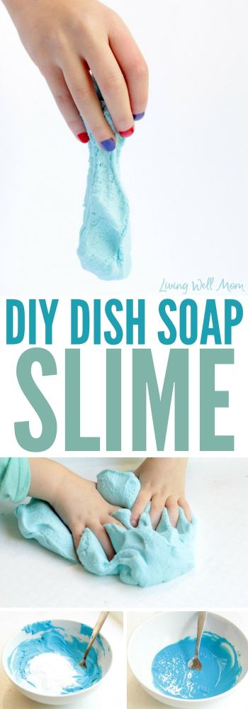 This borax-free dish soap slime is made with shaving cream and kids will love the fluffy texture. This fun STEM activity will keep them busy for hours!