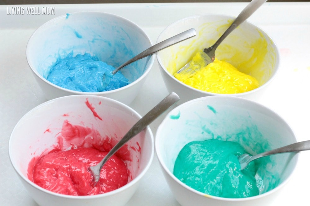 This easy colorful rainbow gak activity is a fun sensory activity kids of all ages will love! Find the easy step by step tutorial here.