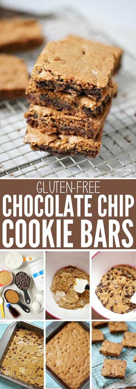 These Gluten-free Chocolate Cookie Bars are deliciously chewy and dairy-free too! This is a perfect quick and easy recipe when you don't have a lot of time but are craving a sweet treat! They're so easy, kids will love helping you bake too!