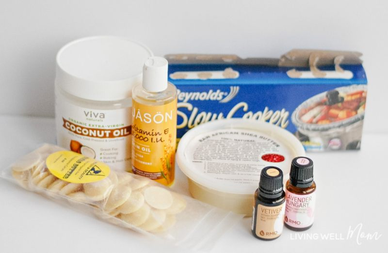 Ingredients for homemade body butter