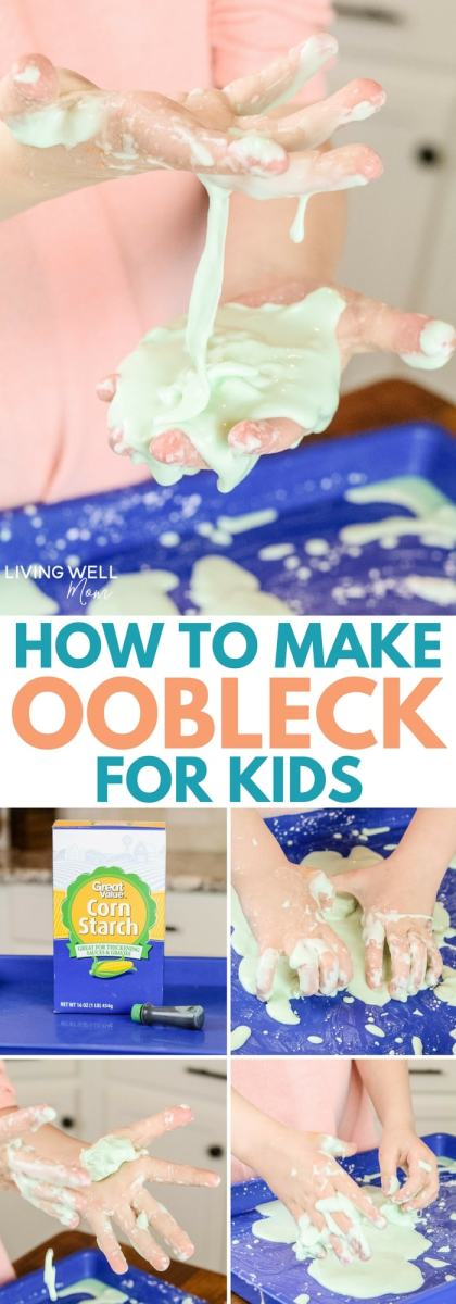 Steps and ingredients on how to make oobleck