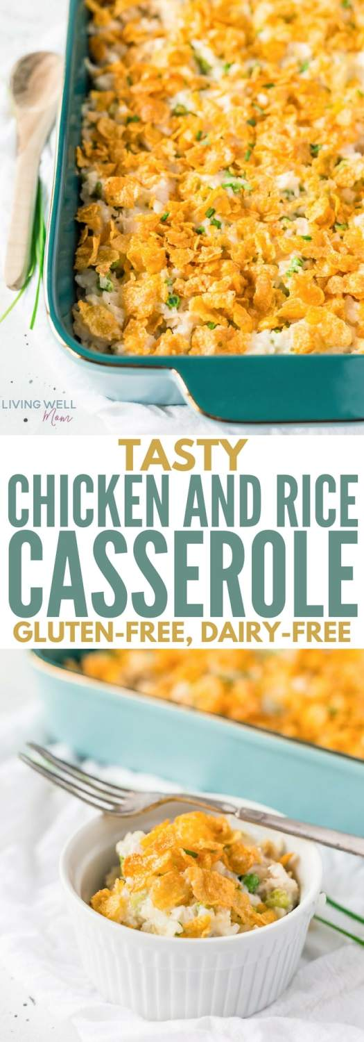 gluten-free chicken and rice casserole