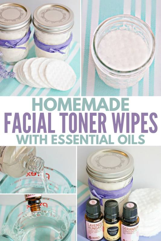 homemade facial toner pads