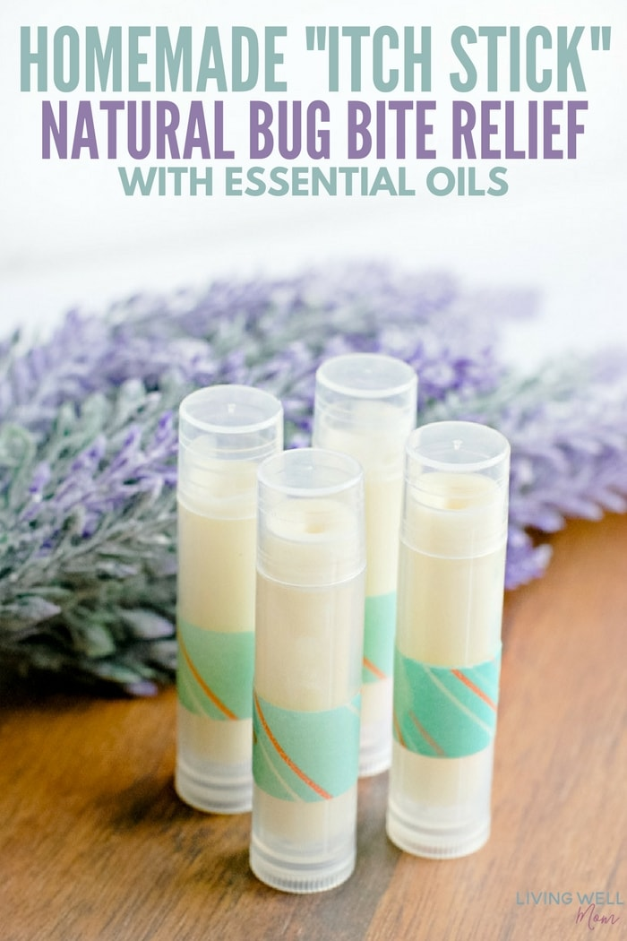 Homemade Itch Stick Natural Bug Bite Relief with Essential Oils