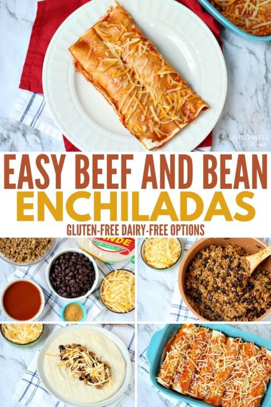 beef and bean enchiladas recipe