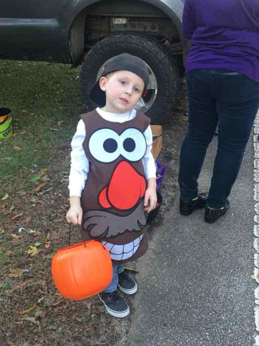 "DIY ""Mr Potato Head"" halloween costume idea - sensory friendly great for kids/teens with autism"