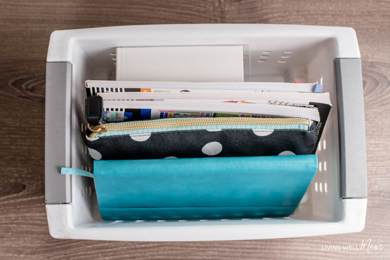 bullet journal container for storing