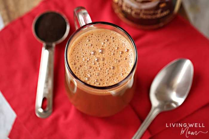 guilt free chocolate mocha latte