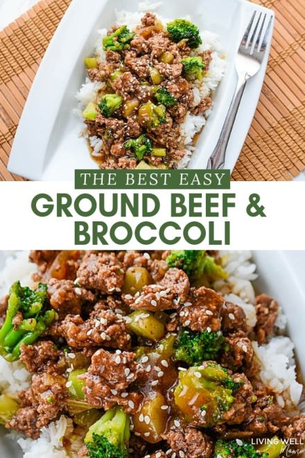 the best ground beef and broccoli with rice dinner
