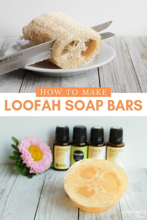 melt and pour loofah soap bars recipe and tutorial