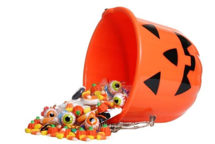 gluten free candy in Halloween bucket