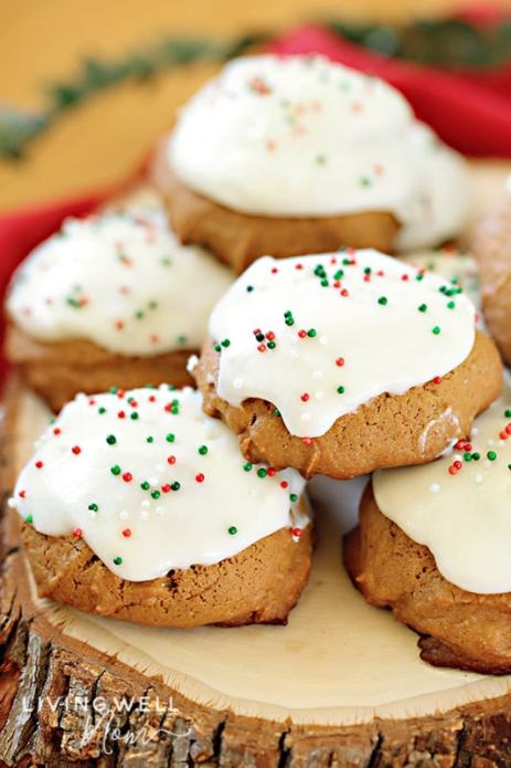 gluten-free frosted ginger cookies