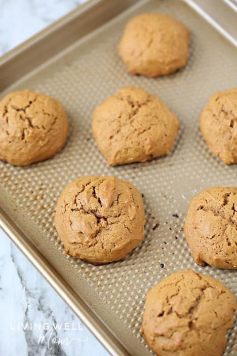 gluten-free ginger cookies on baking sheet