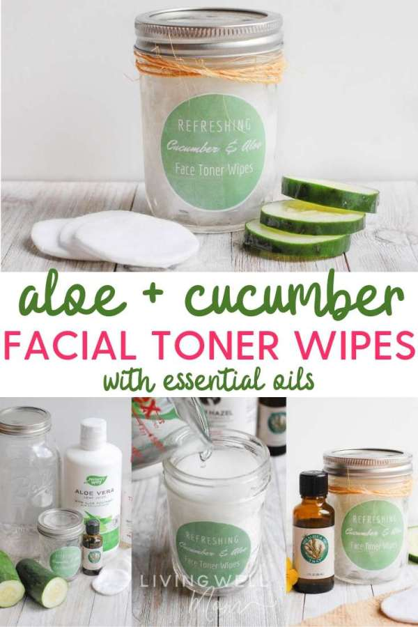 aloe and cucumber facial toner wipes