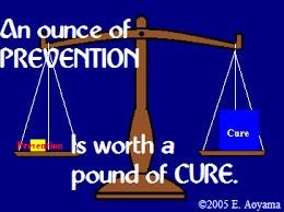 prevention vs cure