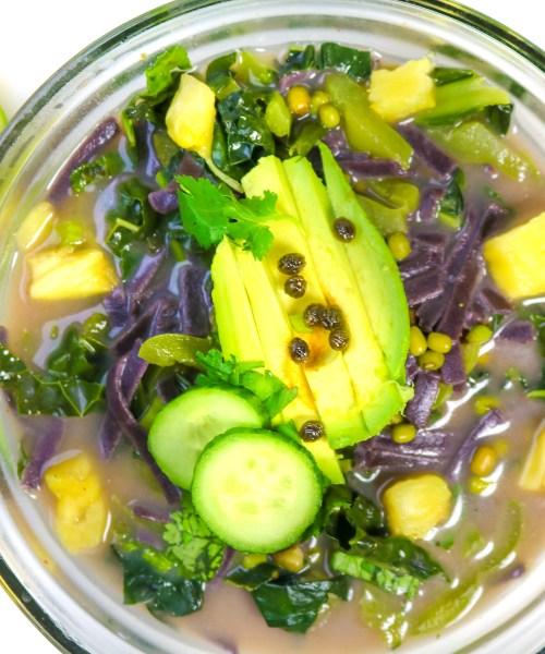 Miso Mung Bean Soup. livingwholesarahdavis.com