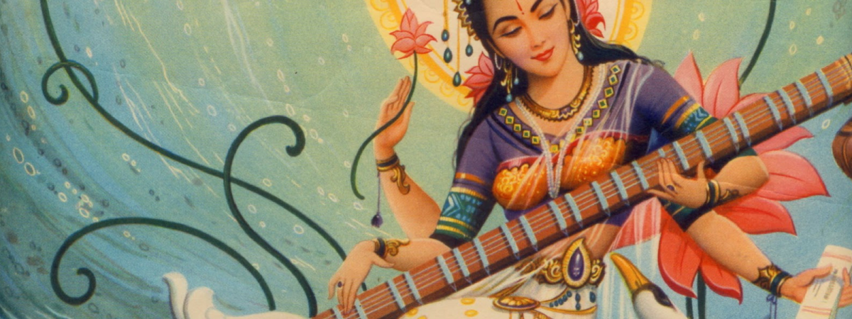 Saraswati, the Vedic Goddess and River