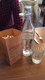 Water and popcorn image