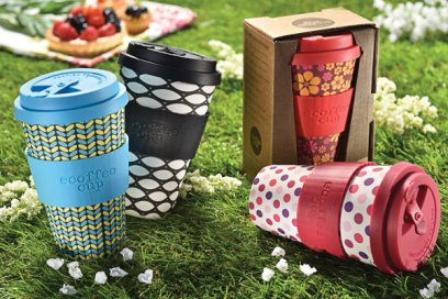 Reusable coffee cups from Ecoffee.