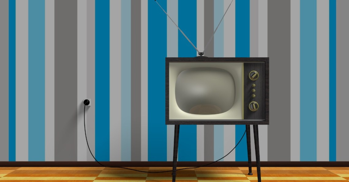 old-fashioned-TV-set