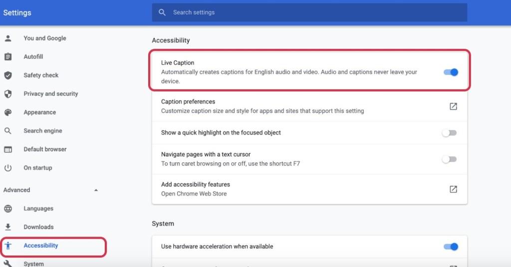 Chrome-settings-Live-Caption
