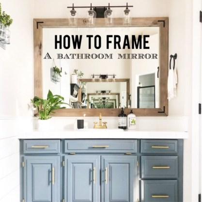 Diy Framed Bathroom Mirrors Living, How To Make Frames For Bathroom Mirrors