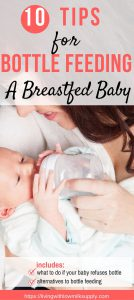10 tips for introducing bottle to a breastfed baby