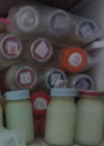how to arrange frozen breast milk bottle in freezer