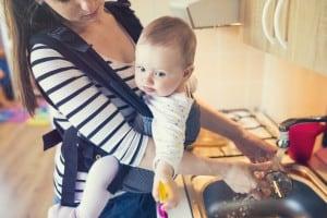 multitasking in babywearing