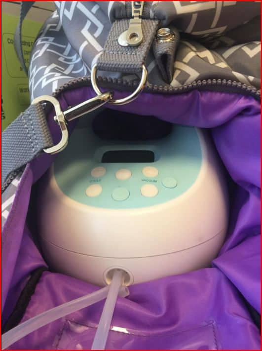 spectra s1 in lizzy breast pump bag