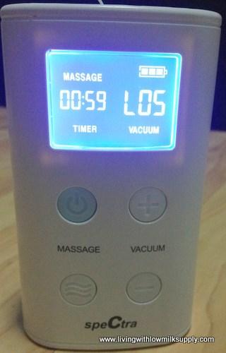 spectra 9 plus breast pump reviews - massage mode