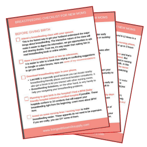 breastfeeding preparation checklist
